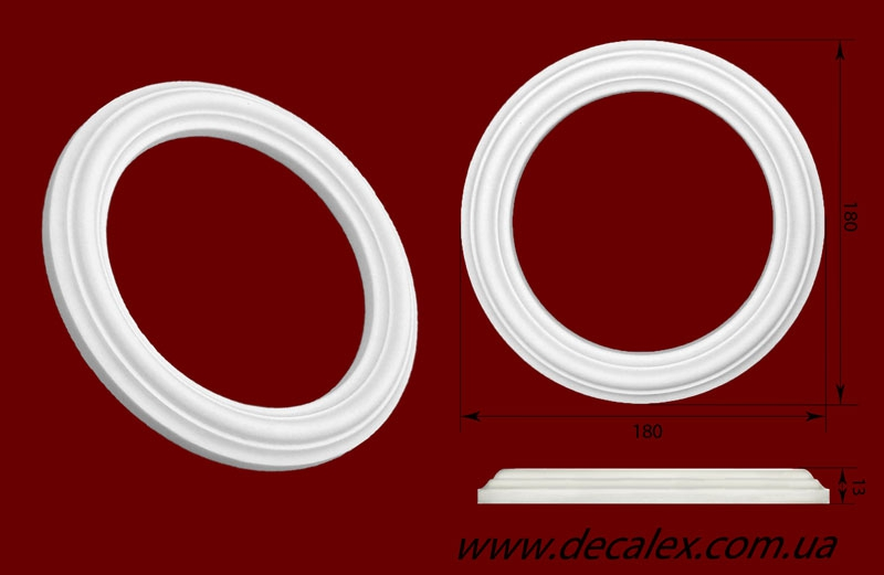 Код товара РЗ 180  Розетка гипсовая. Розничная цена 80 грн.