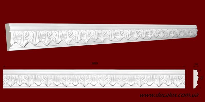 Код товара МP07001. Молдинг из гипса шириной 70 мм и длиной 1000 мм. Розничная цена 125 грн./шт.