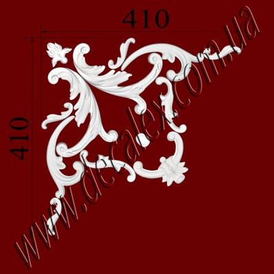 Рис. УН59. Гипсовый наборной угол составлен из элементов орнамента: ФР0014 (1шт), ФР0019 (4шт), ФР0031 (1шт), ФР0092 (1шт), ФР0099 (2шт), ФР0100 (2шт), ФР0101 (2шт) - 425 грн/1 угол
