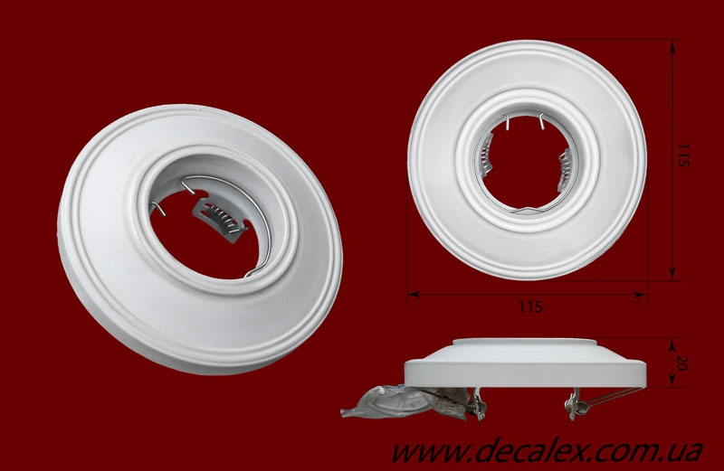 Код товара СВ17. Светильник гипсовый под галогенную лампу MR16 12/220V.. Розничная цена 75 грн.