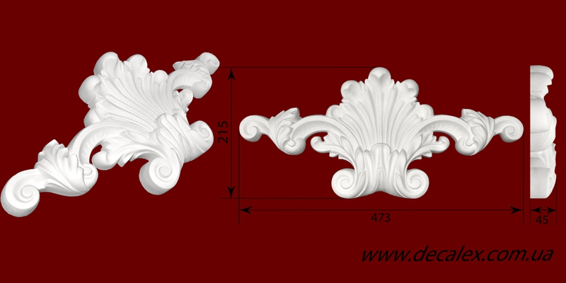Код товара ФР0036. Орнамент из гипса. Розничная цена 240 грн./шт.