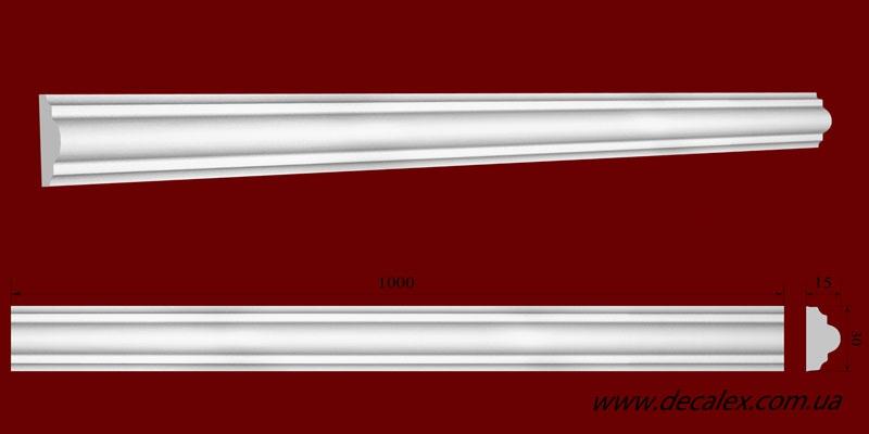 Код товара МЛ03002. Молдинг из гипса шириной 30 мм и длиной 1000 мм. Розничная цена 45 грн./шт.