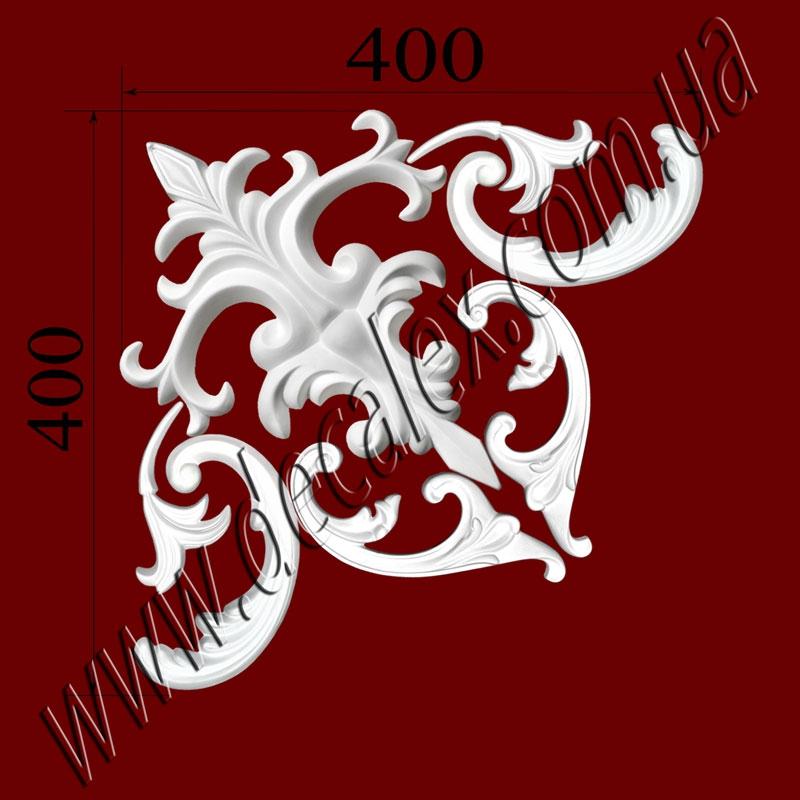 Рис. УН66.Наборной угол составлен из элементов орнамента: ФР0103 (2шт); ФР0128 (1шт); ФР0130 (2шт); ФР0134 (2шт);рамка:МЛ2502 иГЛ2502-5 (Л,П). Розничная цена элементов составляет 440 грн./1 угол.