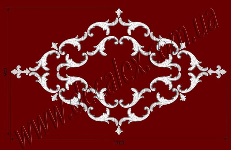 Рис. РН22. Наборная потолочная розетка составлена из элементов орнамента: ФР0011 (20шт), ФР0013 (6шт), ФР0047 (2шт). Розничная цена элементов составляет 1140 грн.