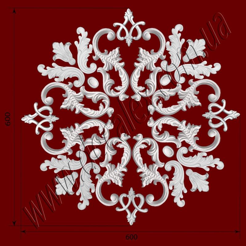Рис. РН21. Наборная потолочная розетка составлена из элементов орнамента: ФР0004 (4шт), ФР0014 (4шт), ФР0013 (4шт), ФР0027 (8шт), ФР0053 (8шт). Розничная цена элементов составляет 920 грн.