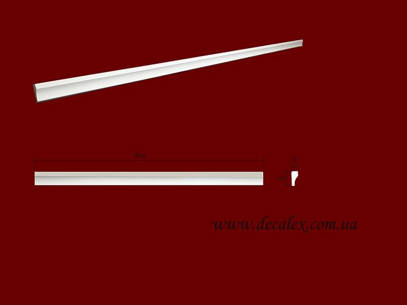 Код товара МЛ02002. Молдинг из гипса шириной 20 мм и длиной 812 мм. Розничная цена 35 грн./шт.