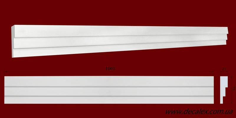 Код товара МЛ07501. Молдинг из гипса шириной 75 мм и длиной 1005 мм. Розничная цена 90 грн./шт.
