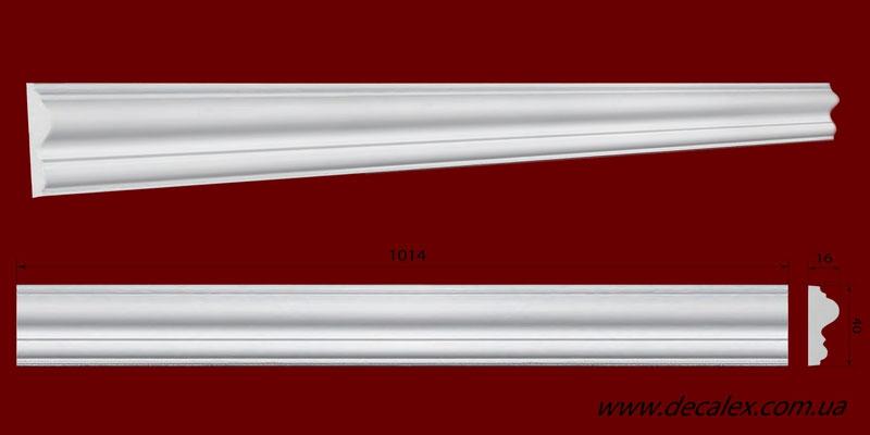 Код товара МЛ04002. Молдинг из гипса шириной 40 мм и длиной 1014 мм. . Розничная цена 50 грн./шт.