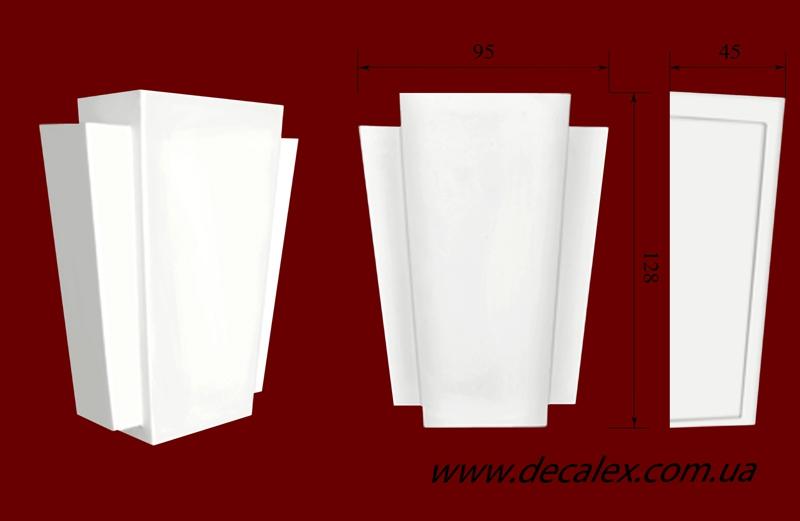 Код товара ЗМ 01.  Элемент оформления дверных проемов: вставка из гипса. Розничная цена 100 грн./шт.
