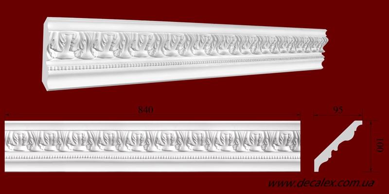 Код товара КР1000952. Карниз из гипса длиной 840мм. Габариты: 100 мм х 95 мм. Розничная цена 130 грн./шт.Минимальный заказ 10 метров.
