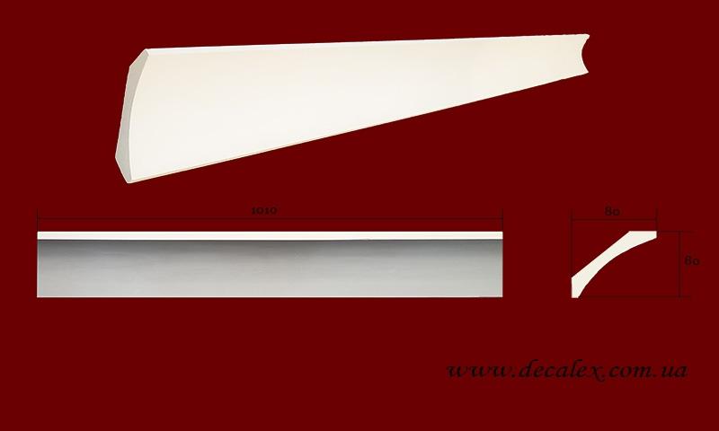 Код товара КЛ0800801. Карниз из гипса длиной 1010мм. Габариты: 80мм х 80мм. Розничная цена 115 грн/шт