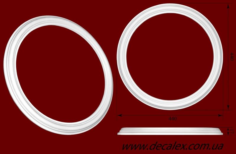 Код товара РЗ 4401. Розетка гипсовая. Розничная цена 150 грн./шт.