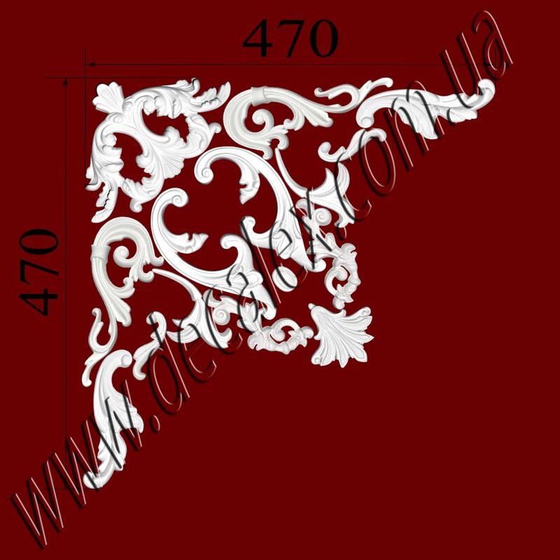 Рис. УН67.Наборной угол составлен из элементов орнамента: ФР0014 (1шт); ФР0019 (2шт); ФР0033 (2шт); ФР0108 (2шт); ФР0113 (1шт); ФР0130 (2шт); ФР0131 (1шт); ФР0134 (2шт); ФР0136 (2шт);рамка:МЛ2502 иГЛ2502-5 (Л,П). Розничная цена элементов составляет 620 грн./1 угол.