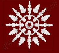 Рис. РН47. Наборная потолочная розетка составлена из элементов орнамента: ФР0010 (8шт), ФР0066 (8шт), РЗ17(1шт). Розничная цена элементов составляет 730 грн.