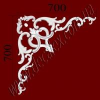 Рис. УН68.Наборной угол составлен из элементов орнамента: ФР0011 (2шт); ФР0014 (1шт); ФР0019 (2шт); ФР0034 (2шт); ФР0053 (2шт); ФР0098 (2шт); ФР0127 (1шт). Розничная цена элементов составляет 595 грн./1 угол.