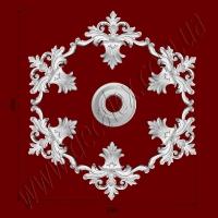 Рис. РН05. Наборная потолочная розетка составлена из элементов орнамента: ФР0042 (6шт), накладка РЗ12 (1шт). Розничная цена элементов составляет 820 грн.