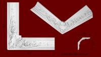 Код товара КР1801781У. Угол из гипса размером 925мм на 925мм стыкуется с гладкотянутым карнизом КЛ1801781 и карнизом с рисунком КР1801781. Габариты: 180мм х 178мм. Розничная цена 925 грн/шт.Минимальный заказ 4 штуки.