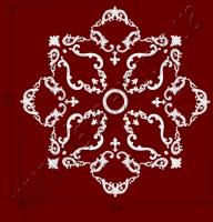 Рис. РН80. Наборная потолочная розетка составлена из элементов орнамента: ФР0014 (4шт), ФР0027 (8шт), ФР0033 (8шт), ФР0046 (4шт), ФР0092 (4шт), ФР0098 (8шт), ФР0107 (4шт), ФР0108 (8шт), ФР0113 (4шт) потолочная розетка РЗ 180 (1шт). Розничная цена элементов составляет 2285 грн.