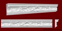 Код товара КР1160501. Карниз из гипса длиной 800мм. Габариты: 116мм х 50мм. Розничная цена 140 грн/шт.