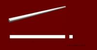 Код товара МЛ0150151. Молдинг из гипса с квадратным профилем (15мм на 15мм) и длиной 810 мм. Розничная цена 35 грн./шт.