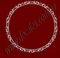 Рис. РН11. Наборная потолочная розетка составлена из элементов орнамента и молдинга: МЛ02502 (8шт по заданному радиусу,Ø круга - 2,5м.), ФР0011 (34шт), ФР0014 (17шт). Розничная цена элементов составляет 4125 грн.