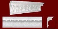 Код товара КР1871201. Карниз из гипса длиной 720мм. Габариты: 187мм х 120мм. Розничная цена 240 грн/шт.