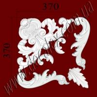 Рис. УН39. Гипсовый наборной угол составлен из элементов орнамента: ФР0010 (1шт), ФР0062 (2шт), ФР0073 (2шт), ФР0074 (1шт) - 400 грн/1 угол