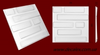"""Код товара: гипсовая 3d панель """"Кирпич 01"""". Габариты: 500мм х 500мм*, толщина - 21мм. Комплектация: 4 шт. на 1 м2. Розничная цена 119 грн./шт."""
