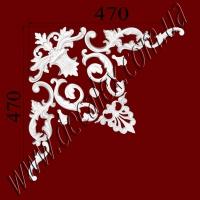 Рис. УН53. Гипсовый наборной угол составлен из элементов орнамента: ФР0014 (1шт), ФР0018 (2шт), ФР0027 (2шт), ФР0042 (1шт), ФР0043 (1шт),ФР0091 (2шт), ФР0101 (2шт) - 510 грн/1 угол