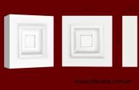 Код товара КВ0005.  Элемент оформления дверных проемов: квадратная вставка из гипса. Розничная цена 50 грн./шт.