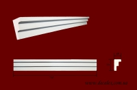 Код товара КЛ0700471. Карниз из гипса длиной 797мм. Габариты: 70мм х 47мм. Розничная цена 105 грн/шт.