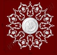 Рис. РН90. Наборная потолочная розетка составлена из элементов орнамента: ФР0009 (16шт), ФР0014 (16шт), ФР0101 (16шт), ФР0133 (8шт), ФР0140 (8шт), ФР0144 (16шт), потолочная розетка РЗ 4001 (1шт). Розничная цена элементов составляет 2570 грн.