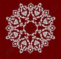 Рис. РН28. Наборная потолочная розетка составлена из элементов орнамента: ФР0019 (16шт), ФР0033 (16шт), ФР0034 (8шт), ФР0050 (8шт), ФР0052 (16шт), ФР0059 (8шт). Розничная цена элементов составляет 2160 грн.