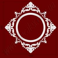 Рис. РН61. Наборная потолочная розетка составлена из элементов орнамента: ДГ0003 (4шт), ФР0013 (4шт), ФР0014 (4шт), ФР0028 (8шт), ФР0062 (16шт), ФР0073 (8шт), ФР0074 (4шт). Розничная цена элементов составляет 2660 грн.