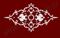 Рис. РН70. Наборная потолочная розетка составлена из элементов орнамента: ФР0013 (2шт),ФР0014 (2шт), ФР0031 (2шт), ФР0079 (2шт), ФР0092 (2шт), ФР0094 (2шт), ФР0098 (12шт), ФР0101 (4шт), РЗ 180 (1шт). Розничная цена элементов составляет 1255 грн.