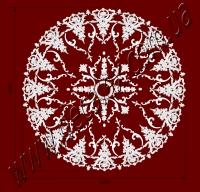Рис. РН78. Наборная потолочная розетка составлена из элементов орнамента: ФР0014 (4шт), ФР0032 (8шт),ФР0055 (4шт), ФР0086 (16шт), ФР0092 (16шт), ФР0099 (24шт), ФР0101 (40шт), ФР0113 (4шт), РЗ180 (1шт). Розничная цена элементов составляет 5045 грн.