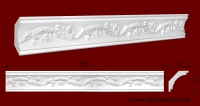 Код товара КР0750741. Карниз из гипса длиной 820мм. Габариты: 75 мм х 74 мм. Розничная цена 120 грн./шт.