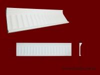 Код товара ДП0005.  Фронтон. Гипсовый элемент для оформления дверных и оконных проёмов как внутри помещений так и для наружного обрамления. Служит также как верхняя часть многих составных каминов. Стыкуется по краям с гипсовой капителью ПК1682 . Розничная цена 320 грн./шт.