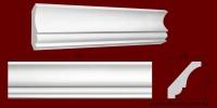 Код товара КЛ1511401. Карниз из гипса длиной 783мм. Габариты: 151мм х 140мм. Розничная цена 210 грн/шт.