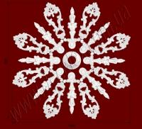 Рис. РН48. Наборная потолочная розетка составлена из элементов орнамента: ФР0050 (8шт), ФР0066 (8шт), РЗ17(1шт). Розничная цена элементов составляет 850 грн.