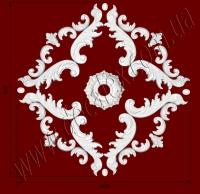 Рис. РН50. Наборная потолочная розетка составлена из элементов орнамента: ФР0013 (4шт), ФР0014 (4шт), ФР0062 (16шт), ФР0070 (8шт), РЗ14(1шт). Розничная цена элементов составляет 1175 грн.