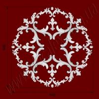 Рис. РН33. Наборная потолочная розетка составлена из элементов орнамента: ФР0011 (8шт), ФР0013 (4шт), ФР0014 (4шт), ФР0034 (8шт), ФР0047 (4шт), ФР0052 (8шт), ФР0053 (8шт). Розничная цена элементов составляет 1480 грн.
