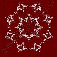 Рис. РН41. Наборная потолочная розетка составлена из элементов орнамента: ФР0004 (24шт), ФР0013 (8шт), ФР0018 (16шт),ФР0019 (16шт),ФР0027 (32шт),ФР0033 (16шт),ФР0034 (16шт). Розничная цена элементов составляет 4000 грн.