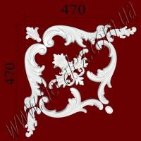Рис. УН35. Гипсовый наборной угол составлен из элементов орнамента: ФР0011 (2шт), ФР0013 (1шт), ФР0014 (1шт), ФР0042 (1шт), ФР0053 (2шт), ФР0073 (2шт) - 430 грн/1 угол
