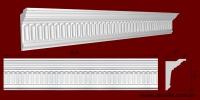 Код товара КР1120771. Карниз из гипса длиной 810мм. Габариты: 112мм х 77мм. Розничная цена 145 грн/шт.