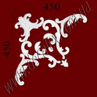 Рис. УН56. Гипсовый наборной угол составлен из элементов орнамента: ФР0014 (1шт), ФР0062 (2шт), ФР0092 (1шт), ФР0097 (1шт), ФР0098 (2шт), ФР0100 (2шт) - 430 грн/1 угол