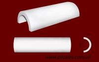 Код товара ПКТ2002. Гладкое тело полуколонны. Наружный диаметр 200 мм, внутренний 150 мм. Длина изделия - 510мм.      Розничная цена 350 грн./шт.