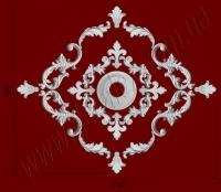 Рис. РН09. Наборная потолочная розетка составлена из элементов орнамента: ФР0013 (4шт), ФР0027 (4шт), ФР0009 (4шт), ФР0033 (4шт), ФР0046 (4шт), потолочная розетка РЗ12 (1шт). Розничная цена элементов составляет 930 грн.