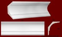 Код товара КЛ2502401. Карниз из гипса длиной 500 мм . Габариты: выс 250мм х глуб 240мм. Розничная цена 310 грн/шт.