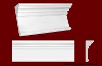 Код товара ДП0003.  Фронтон. Гипсовый элемент для оформления дверных и оконных проёмов как внутри помещений так и для наружного обрамления. Служит также как верхняя часть многих составных каминов. Стыкуется по краям с гипсовой капителью ПК2101. Розничная цена 295 грн./шт.
